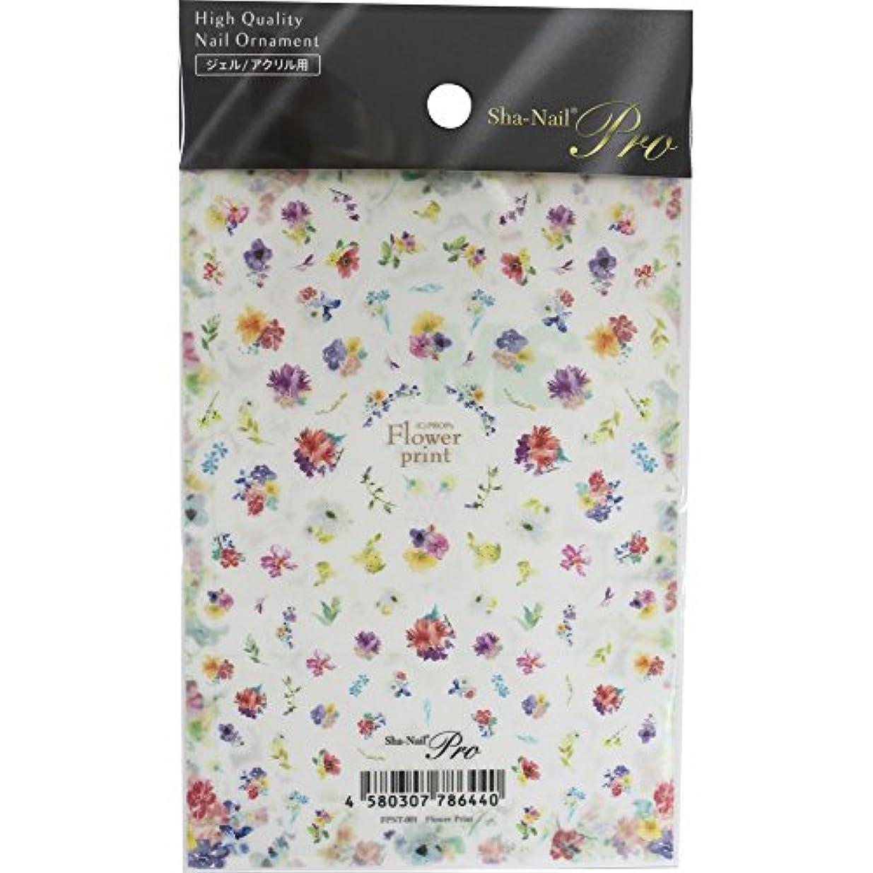降雨心からシャイニングSha-Nail Pro ネイルシール Flower Print フラワープリント FPNT-001