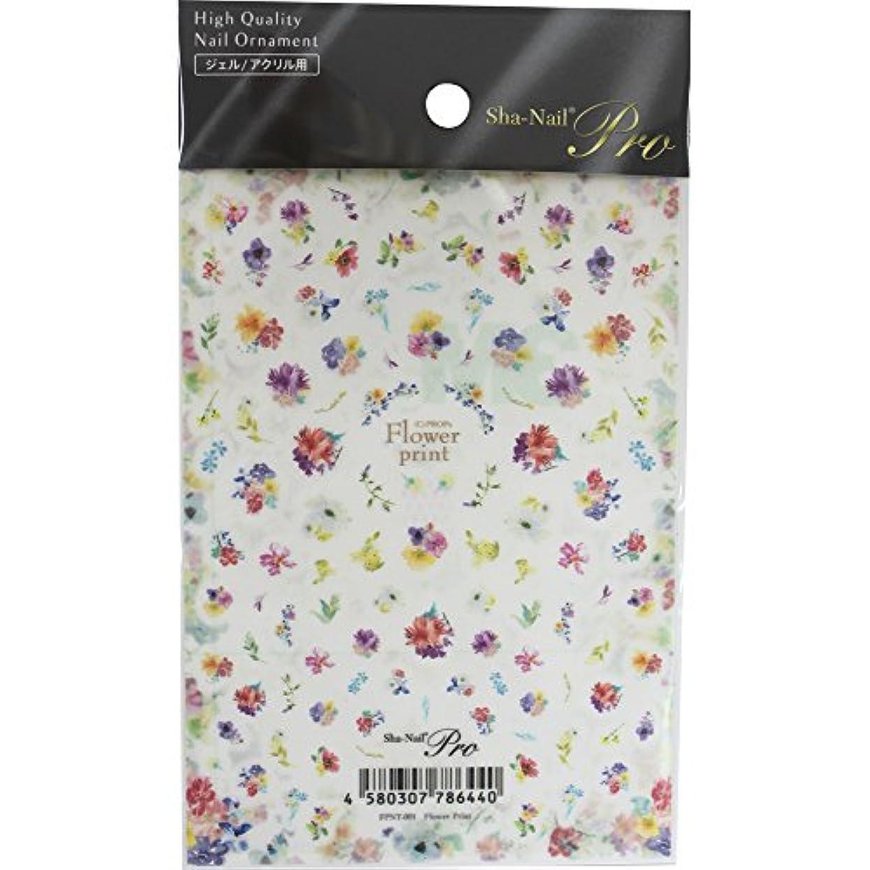 広げる準備成功するSha-Nail Pro ネイルシール Flower Print フラワープリント FPNT-001