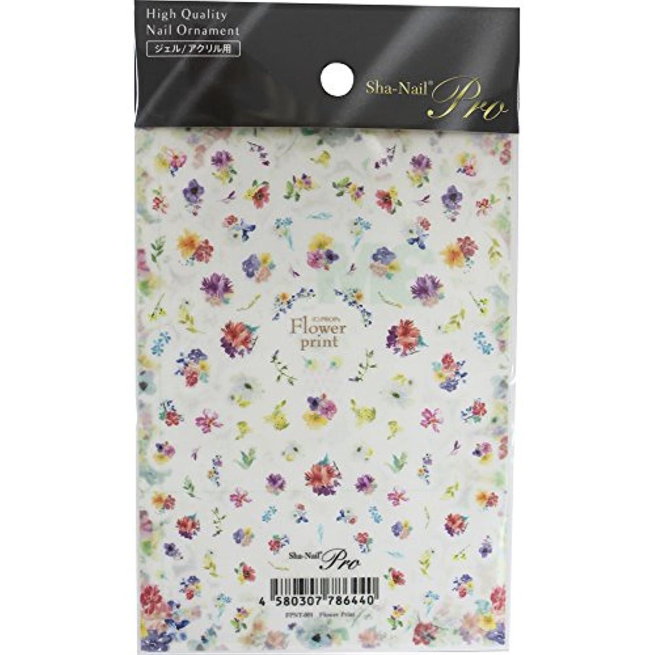 ルビーファランクスカテゴリーSha-Nail Pro ネイルシール Flower Print フラワープリント FPNT-001