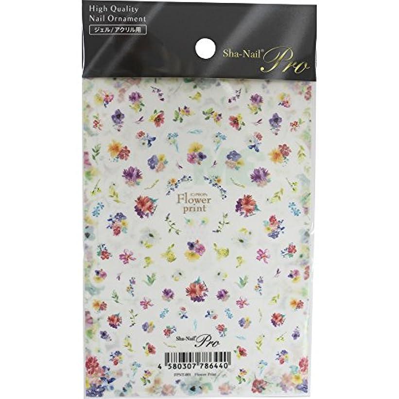 所持郵便物農民Sha-Nail Pro ネイルシール Flower Print フラワープリント FPNT-001