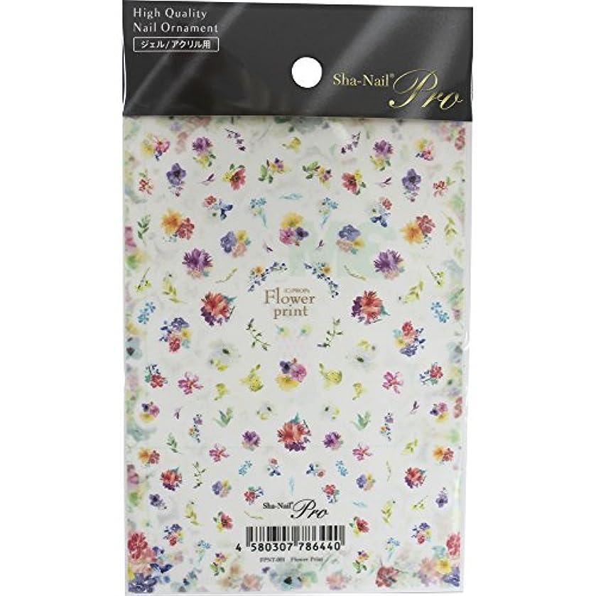 結論化合物書き出すSha-Nail Pro ネイルシール Flower Print フラワープリント FPNT-001