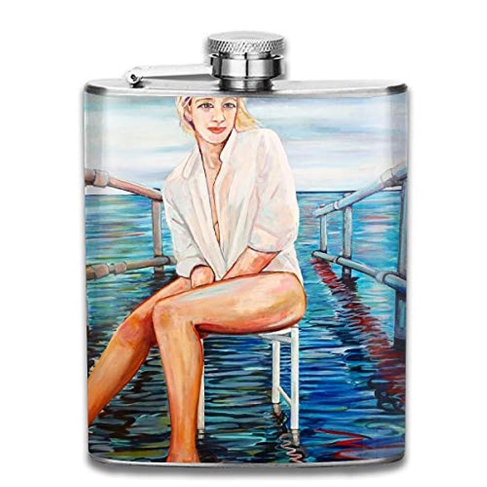 円形タイヤ小学生ブルームン 酒器 酒瓶 お酒 フラスコ 女性 ボトル 携帯用 フラゴン ワインポット 7oz 200ml ステンレス製 メンズ U型