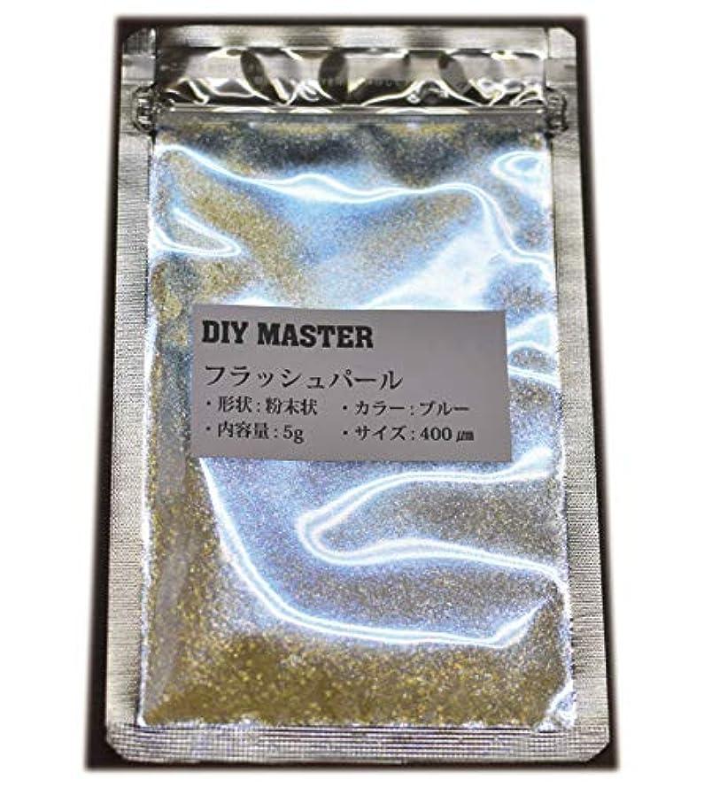 寝るジャンル短命DIY MASTER フラッシュパール ブルー 5g (極粗目、ドライ)