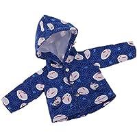 SONONIA かわいい 1/6 BJD SD人形用 ボタンデザイン ウサギ コート 服装 3カラー - ブルー