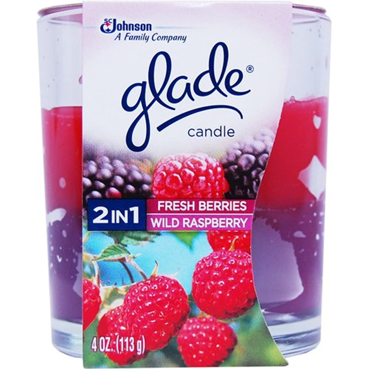 脆い熟達なにグレードキャンドル 2in1 (フレッシュベリー&ワイルドラズベリー)