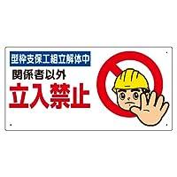 307-09B 立入禁止標識 型枠支保工組立解体中
