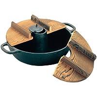 アサヒ 鉄  木蓋付しゃぶしゃぶ鍋 S-9-70