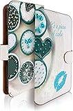 R15 Neo ケース 手帳型 スイーツ ブルー カップケーキ 生チョコ アール15 ネオ 手帳型ケース 手帳型カバー チョコ タルト [スイーツ ブルー/t0695]