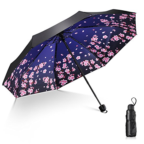 日傘 Leebotree 超軽量 折りたたみ日傘 遮光率100% UVカット率9...