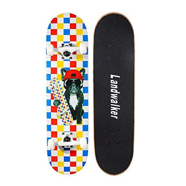 Landwalker Pro Cruiser Complete Girl Skateboard 31x8 Inch Skateboards cheap e-skateboard(dog) [Floral] [並行輸入品]