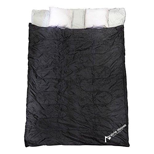 寝袋 2人用 封筒型 シュラフ 枕付き キャンプ アウトドア...