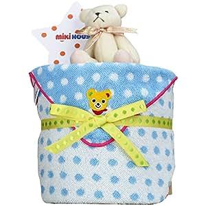 mikihouse(ミキハウス) 使用 出産祝い 日本製 おむつケーキ 今治タオル パンパースS くまのぬいぐるみ 付 imabari towel 男の子でも女の子でも 男女兼用