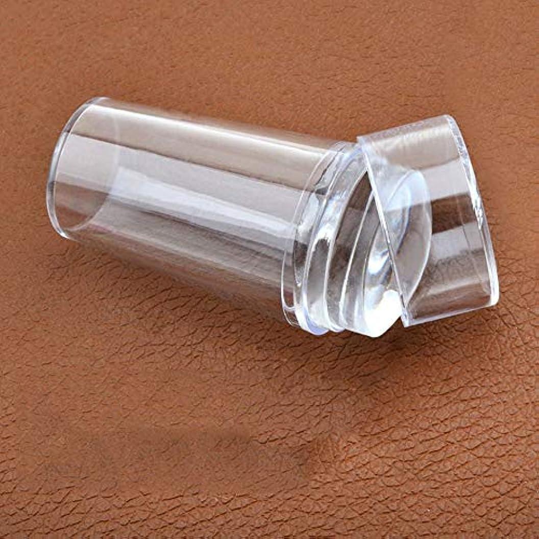 バクテリア油補正AAcreatspace透明シリコンヘッドゼリーシール付きカバースタンプスタンピングマニキュアネイルアートスクレーパーDIYツールキットマットハンドル付き