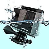MUSON(ムソン) [メーカー直販/1年保証付] アクションカメラ 1080PフルHD高画質 30m防水 スポーツカメラ Wi-Fi搭載 ウェアラブルカメラ 防犯カメラ ドライブレコーダーとしても利用可能 C1 シルバー