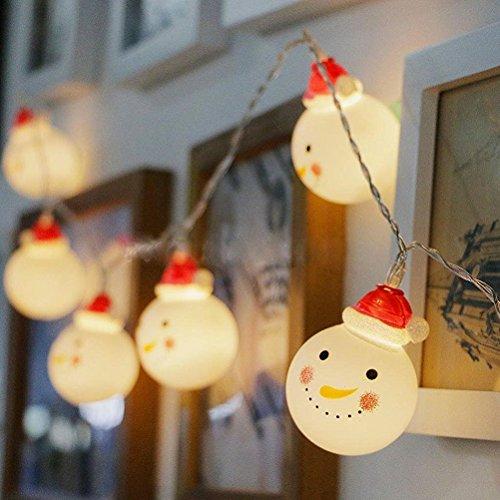 BigFox スノーマン装飾LEDライト クリスマス飾り 1...