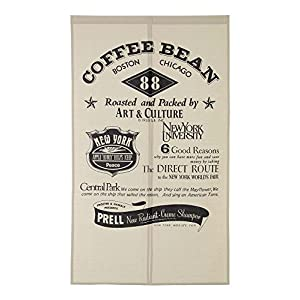 narumikk のれん コーヒー サイズ:85×150cm 09-007