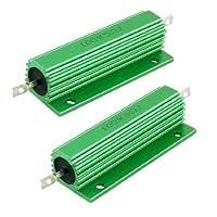 100W 5オームグリーンアルミ収納された巻線型抵抗器2個