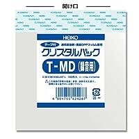 ヘイコー OPP袋 テープ付き クリスタルパック T MD(録音用) 1000枚(100枚×10袋)