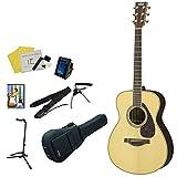 YAMAHA アコースティックギター アコギ11点入門セット LS6 ARE 全4色 ヤマハ 入門 (NT)