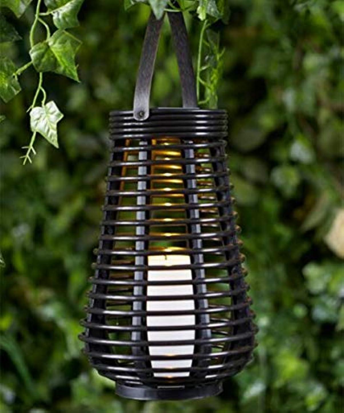 要求する嘆く上陸XuBa キャンドルランプ 無炎 LED 防水 塔型 吊りソーラーライト 装飾籐スタイルランタン