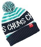 (チャムス) CHUMS 子供用 ニット帽 Kid's CHUMS Logo Border Watch キッズ ワッチ ビーニー ネイビー Navy