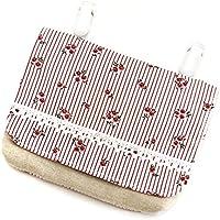 (レイラバッグストア) Layla bag store 移動ポケット(ゆったりサイズ) ピンク&ストライプ