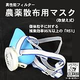 農薬散布用マスク RS2(取替え式防じんマスク)