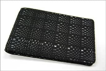 印傳屋 印伝 メンズ 免許証入れ 2518 変わり市松 (黒×黒)   日本製 和風 和柄 通販 ギフトに。