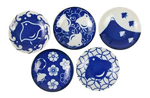 みのる陶器 千鳥づくし 豆皿 5柄セット