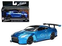 "Brian's 2009 Nissan GTR R35 Blue Ben Sopra""Fast & Furious"" Movie 1/32 Diecast Model Car by Jada サイズ : 1/32 [並行輸入品]"