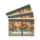 グリーティングライフ クリスマス カード 和風 ミニサンタ 3枚セット 蓮華寺 SJ-55-AM