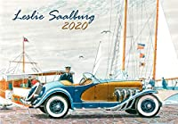 カレンダー 2020 [12 pages 20x30cm] Classic Cars Vintage レトロIllustration by Leslie Saalburg