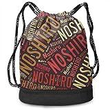 ジムサック 能代市 ナップサック 巾着袋 リュックバッグ 超軽量 バッグ 男女兼用 大容量 Black One Size