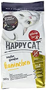 ハッピーキャット (HAPPY CAT) ラ・キュイジーヌ カニンヘン (ラビット&ビーフ) グルメで敏感な猫用ドライフード 全猫種 グレインフリー (300g)