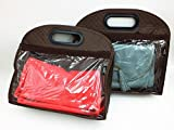 Shop XJ かばん バッグ 収納 保管 袋 鞄 (ブラウン XS)