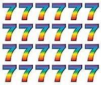 Beistle 55076-7 24-Pack Multi-Colour Plastic 3-D Number 7 Party Decor, 28cm