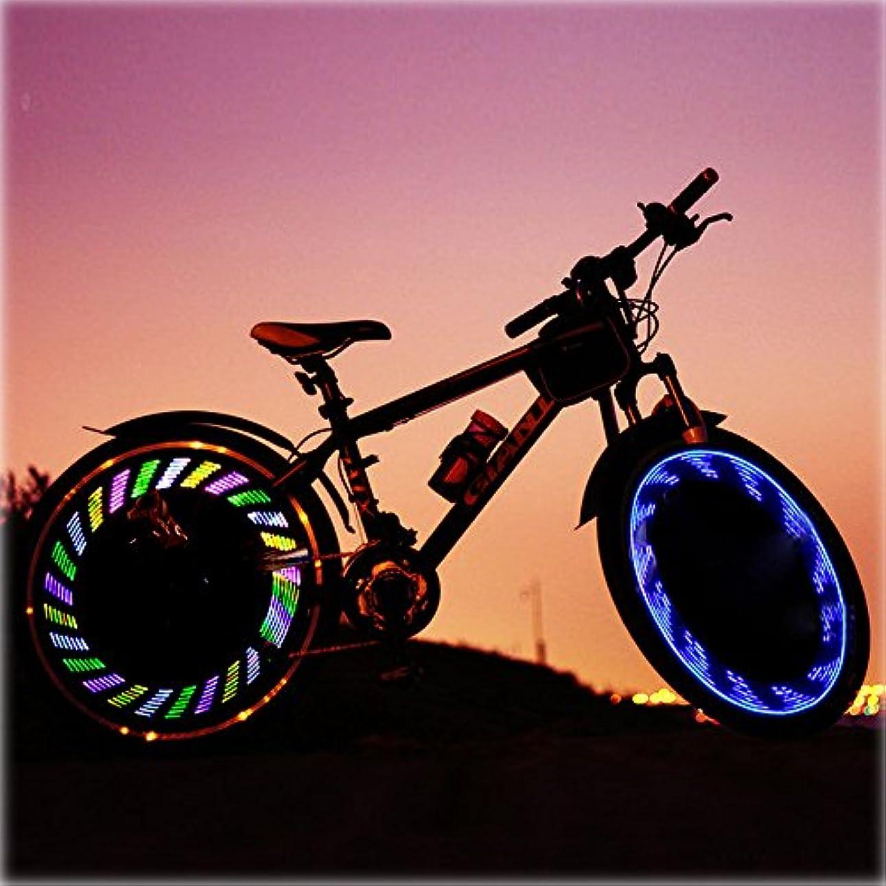 主流フロンティア証明書Ligangam LED自転車ホイールライト スポークライト サイクル用デコレーションランプ 夜道安全&事故防止 風車型 取付簡単 12種類の模様変化 3秒間 防水IPX5 オシャレ ユニーク 人気