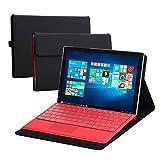 Valkit Surface Pro 4 ケース対応,Microsoft Surface Pro 4 カバー 耐衝撃 PUレザー 薄型 軽量 スタンド機能付 キーボード対応 専用保護ケース,(ブラック)