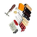 Eleoption 14点セット レザークラフト工具 DIY 手作り裁縫皮革 工具 レザーツール セット