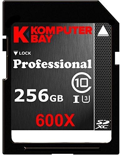 Komputerbay Professional 256 GB High Speed SDXC Class 10 UHS-I, U3 600X Flash Card