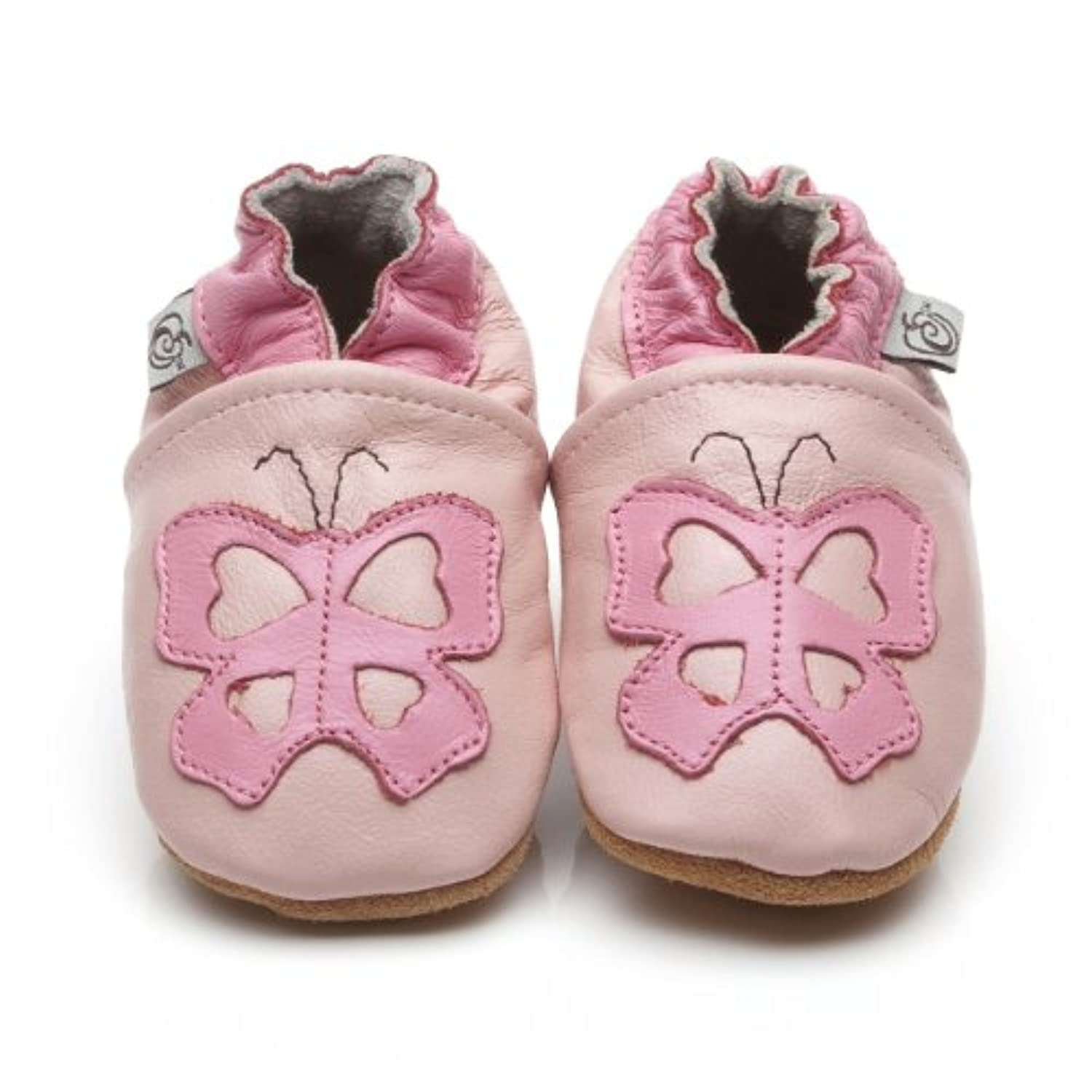 Soft Leather Baby Shoes Butterfly [ソフトレザーベビーシューズバタフライ] 3-4 years (16.5 cm)