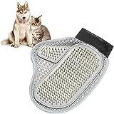 BTXXYJP ペット ブラシ 手袋 猫 ブラシ グローブ クリーナー 耐摩耗 抜け毛取り マッサージブラシ 犬 グローブ (Color : Gray, Size : M)