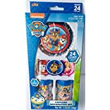 Paw Patrol Cupcake Toppers, Liners, Sprinkles, with Collectible Coins to Give as Party Favors-This Cupcake Decorating Kit has 24 Cupcake Liners and will Decorate 24 Cupcakes with 24 Party Favors.
