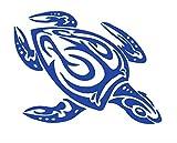 ハワイアン ホヌ(HONU 海亀) ウミガメ 海亀 Sea Turtle 南国 トロピカル ステッカー シール デカール (ブルー)