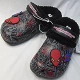 【韓国子供服】スパイダーマン SPIDER-MAN サンダル(ボア付) 【ブラック系】/17.0cm/18.0cm/19.0cm/20.0cm/21.0cm/22.0cm (18.0cm)