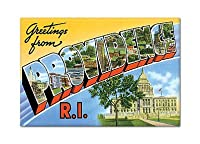 Greetings from Providence Rhode Island Fridge Magnet by Classical Creations