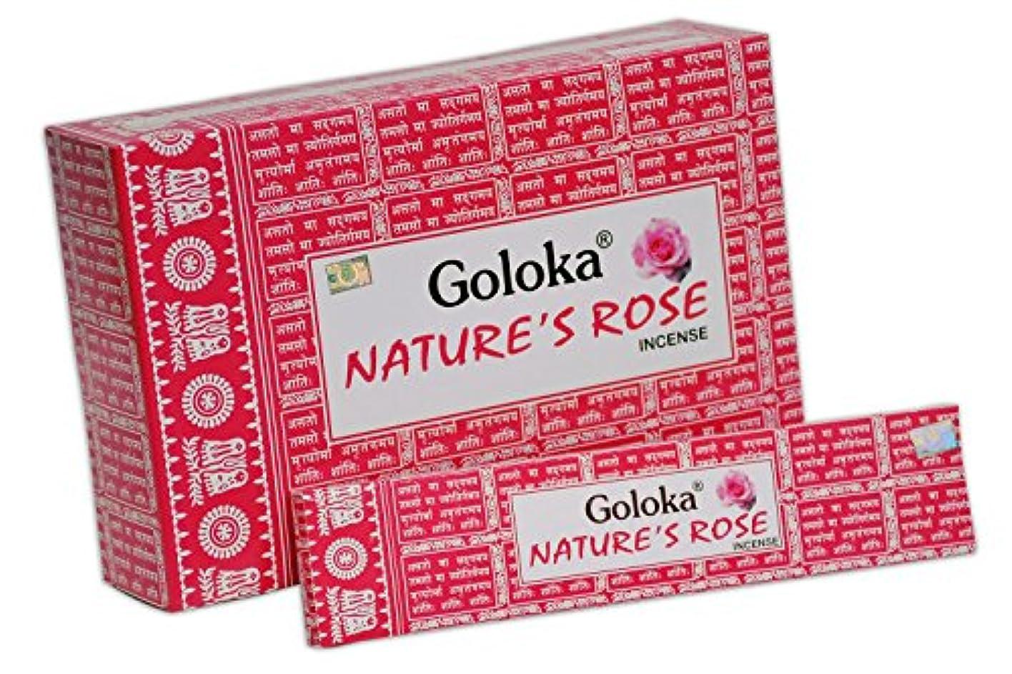 モードである適度にGoloka自然シリーズコレクションHigh End Incense sticks- 6ボックスの15 gms (合計90 gms)