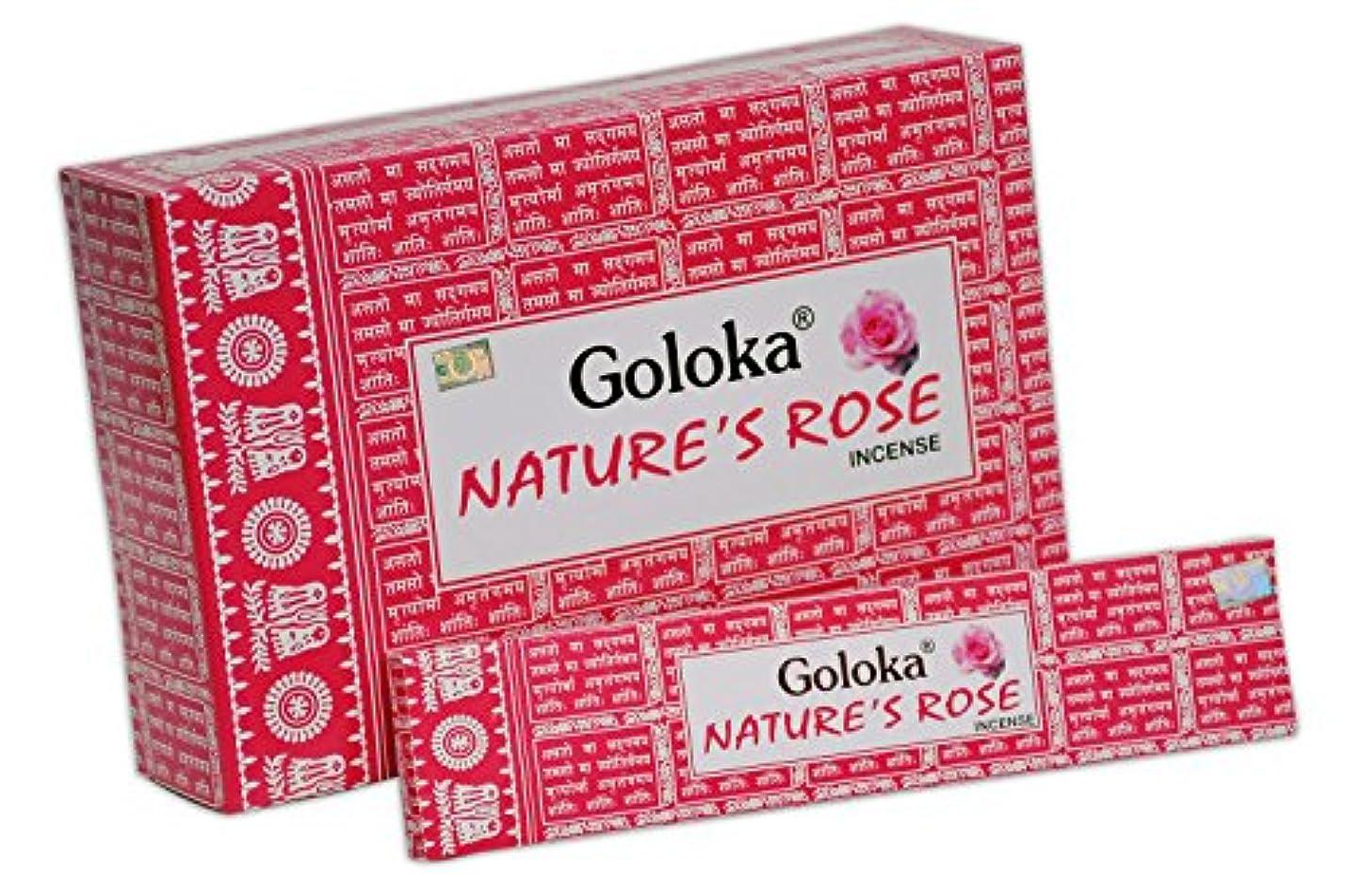 不承認分析クラシカルGoloka自然シリーズコレクションHigh End Incense sticks- 6ボックスの15 gms (合計90 gms)