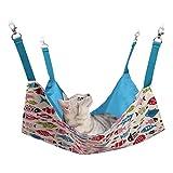 猫 ハンモック Blueekin ペット ベッド 通気性抜群 遊び場 昼寝 日向ぼっこ 夏冬両用 耐荷重 5KG 小中型 45cm x 45cm(ブルー)