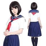店内50%OFF~開催中 奈子セーラー 赤スカーフ 3点セット S~4Lサイズあり costume323 ハロウィン 衣装 s